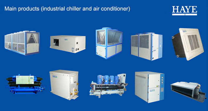 Water cooled chiller with CE certificate -screw