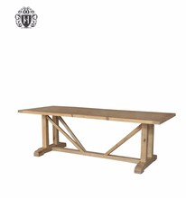 Factory Direct Pine Furniture Old Dining Table Recycled Solid Wood D1580-240