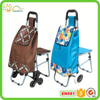 Shopping trolley bag shopping trolley with seat belt