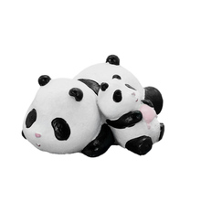 ROOGO resin sensor sleep panda statue garden decoration of the house