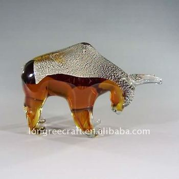 Blown Glass Bull-Fight Wedding Bedroom Decoration-LRT124