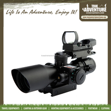 2.5*10-40 Laser rifle scope for Pistol Handgun ,Tactical Scopes with Red & Green Dot Mini Laser Sight for gun