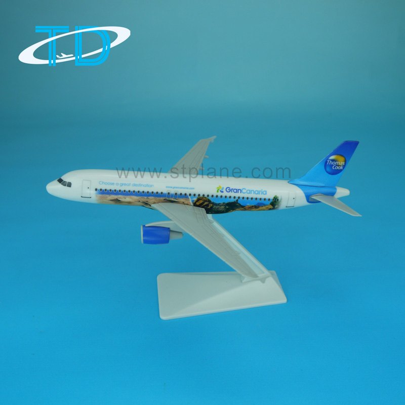 Ultralight Jet Engine Airplane A320 Plastic Model