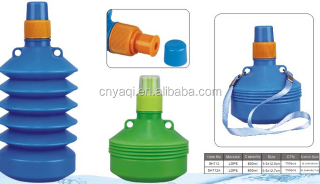 Foldable Water Bottle Foldable Water Bottle Lightweight Collapsible Durable