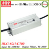 Meanwell HLG-60H-C700 70W constant current waterproof dimmable led driver