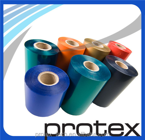 Brother printer on microfiber ribbon hot stamping foil for textile with against water and dry cleaning