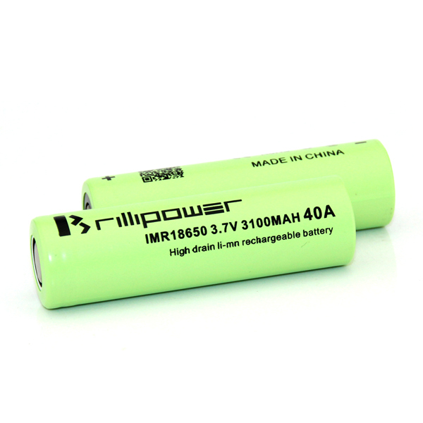 Best-Selling brillipower 18650 li-ion battery flat top high drain 18650 3.7v li-ion polymer battery