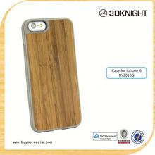 custom cell phone case wood bamboo phone shell for iPhone 6