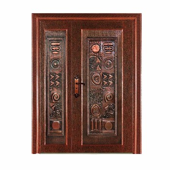metal double doors exterior/metal door decoration/lmitate copper door HL-J26