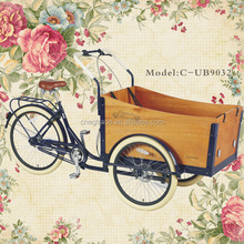Wholesale adult tricycles CE 7speeds disc brake cargo bike/bakfiets/cargo tricycle tricycle from China UB9032