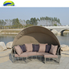 Sunbed Rattan Outdoor Canopy Furniture For