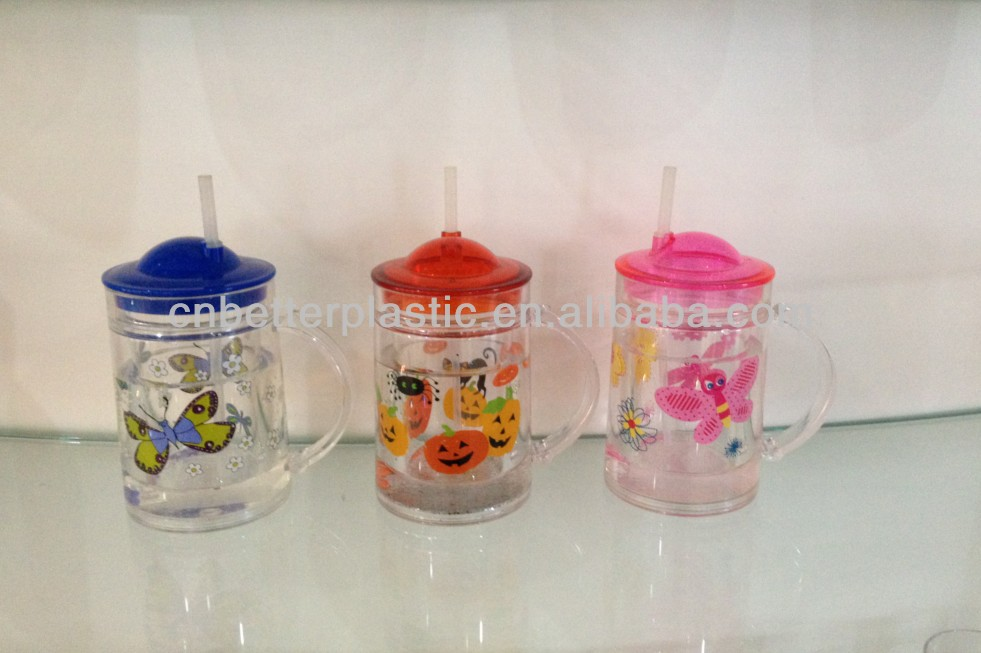 2014 hot sale fashional carton plastic water cup A9248 for children from factory