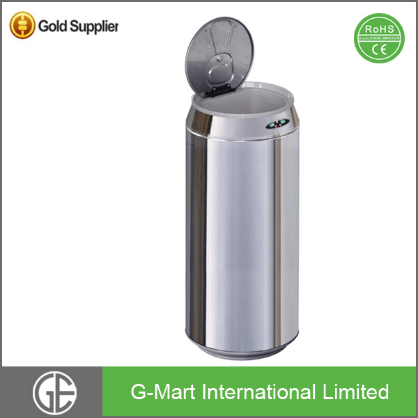 50Liter Indoor stainless steel Sensor Fireproof Dustbin