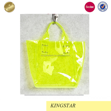 Clear Neon Mini Tinted Pvc Tote Bag