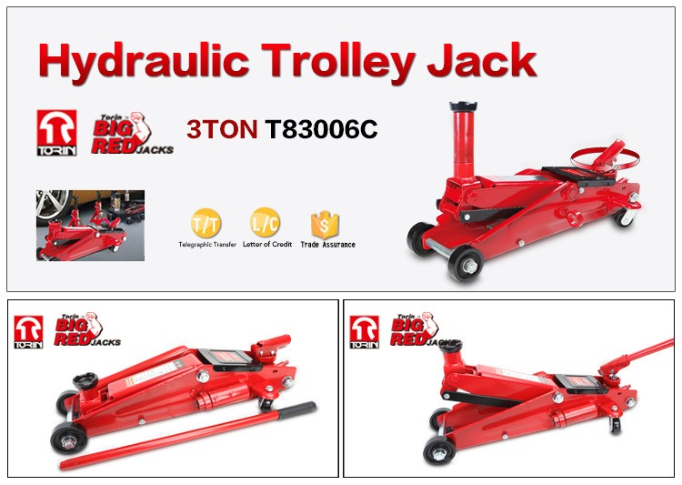 T83006C 3ton high lift hydraulic trolley jack,150-530mm,3t CE certify