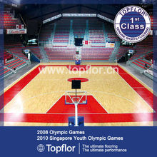 BEST Choice School Basketball Court with Wood Like PU Surface