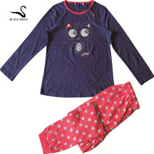 Black swan brand sleep wear customized kids pajamas