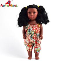 Guangzhou Supplier Black Africa Small Plastic Doll With Afro Hair For Girls