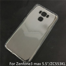 Soft TPU Silicon Transparent Clear case for asus zenfone 3 max/ZC553KL