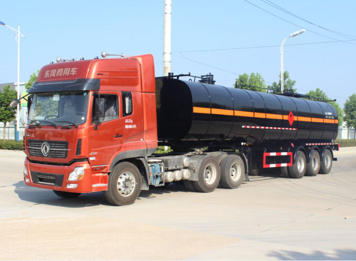36000Liters Liquid Bitumen Semi-Tankers Mounted with Burner