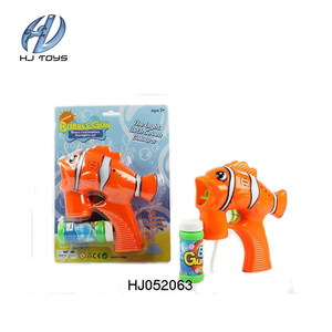 Funny cute best price fish bubble gun led bubble gun with music