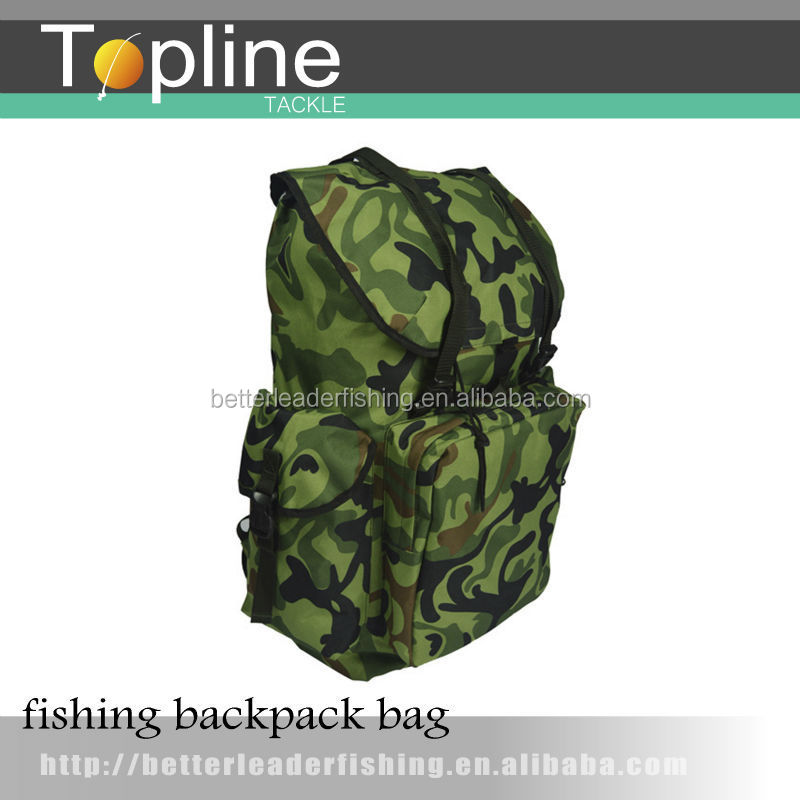 cheap wholesale camo carp fishing backpack for fishing tackles