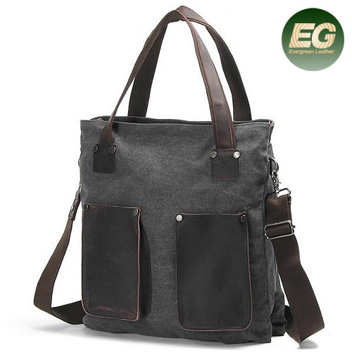 2017new popular mens canvas work&travel shoulder bags Vintage canvas messenger bag with leather trim GA21