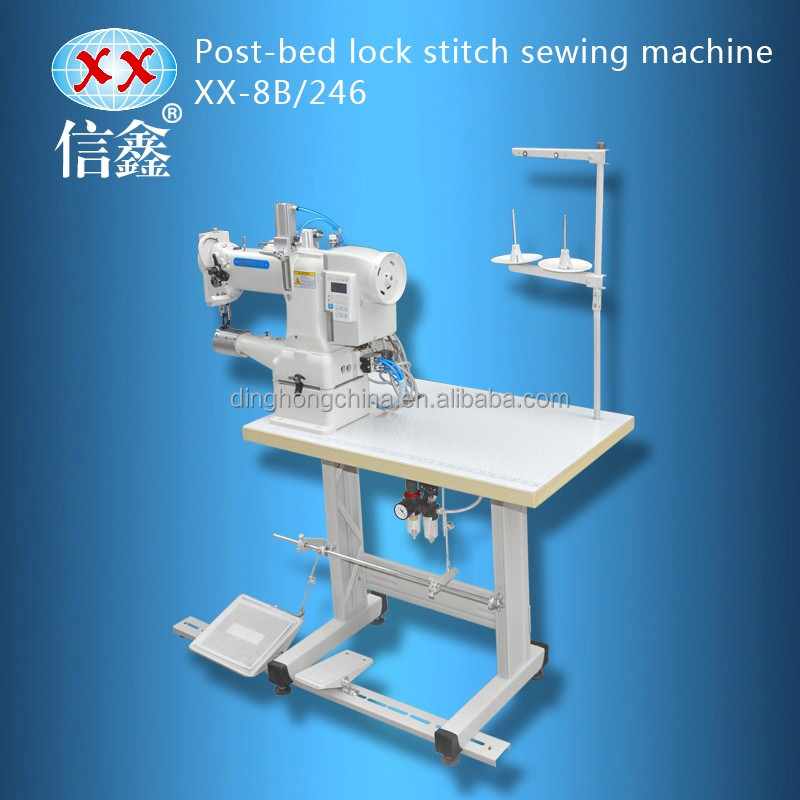 XX-8B/246 post-bed lockstitch industrial used heavy leather shoe upper japanese used shoe sewing machine for sale