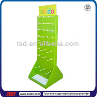 TSD-C759 Retail Paper Peg Hook Showing Rack, Cardboard Floor Standee, point of sale display units