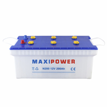 12v200ah auto battery dry charged truck battery N200