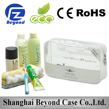 Top selling wholesale promotional clear cosmetic bags with handle