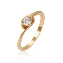13961 Xuping 1 gram gold rings design for women with price, latest gold plated wedding rings for women