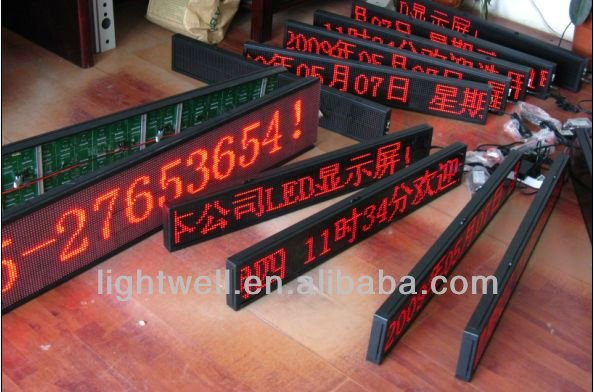 Shenzhen p10 single red/green/blue/white/yellow color led display low price usb,rs232,remoter,wireless programmable led sign