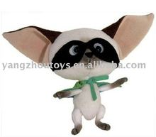 soft plush animal black and white bat toy with long ears stuffed bat toys