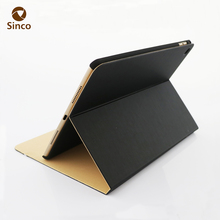 Unique design 10 inch tablet hard case pu leather flip case for ipad