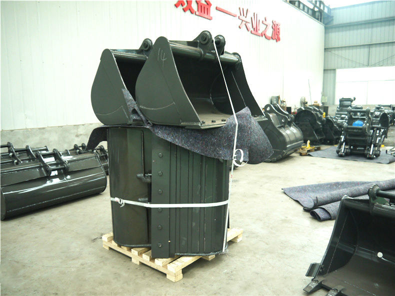 competitive quality excavator parts of ZX50 mud bucket with double blade