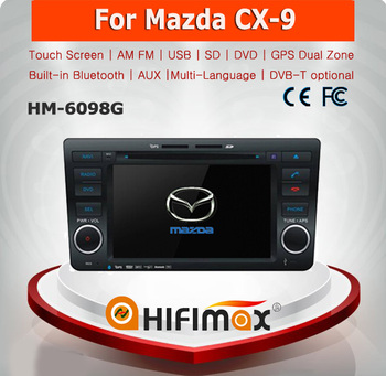 Hifimax car navigation system for mazda cx-9 touch screen dvd player mazda cx-9 dvd gps navigation