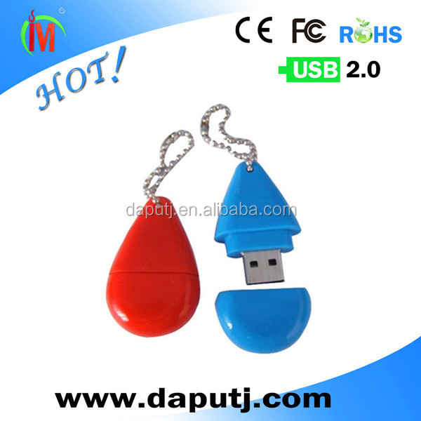Hot selling wedding gift usb pen drive with keychain
