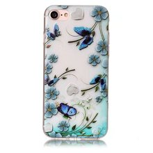 Oem amazing quality relief painted phone case custom TPU for iphone 7/8