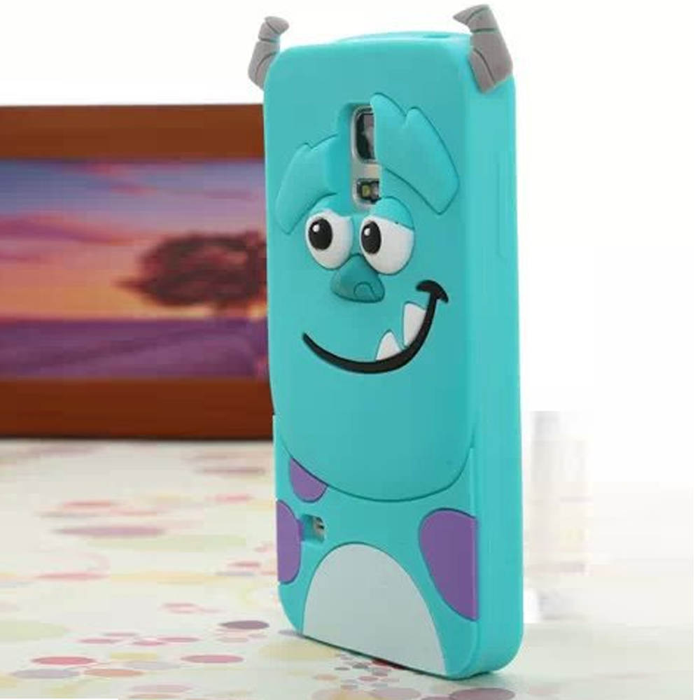 3D Sulley Cartoon Soft Silicon phone cases cover for samsung galaxy s5 mini a smiling tiger case for samsung galaxy S5mini