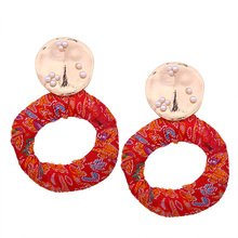 New retro wild earrings girls elegance fashion geometric circle winding earrings