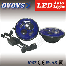 china factory wholesale price 40w blue round led work light headlight without halo for J-EEP,har-ley