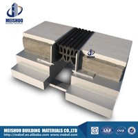Reinforced aluminum profile cement corrugated rubber expansion joint design