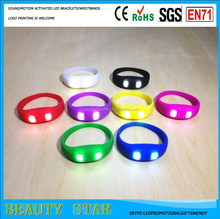 2016 best beer promotional gifts led flashing wristbands,flash to the sound activated led flashing wristbands