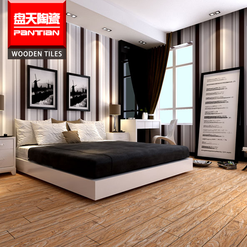 bamboo look timber parquet floor tiles15*600mm wooden tile