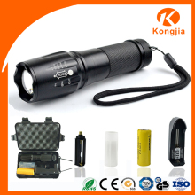 High Quality Aluminum Brightest 800 Lumen Tactical 10W Rechargeable High Power Adjustable Focus Hand Held Search Light