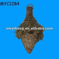 Hand knitting bird nest bird product