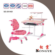 Comfortable Home use Hight Adjustable kids study table chair