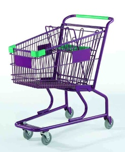 America style metal supermarket kids shopping cart trolley