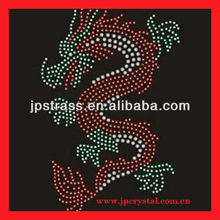 CHINESE DRAGON hot fix rhinestone transfer motifs patterns;rhinestone transfer hot fix strass motifs